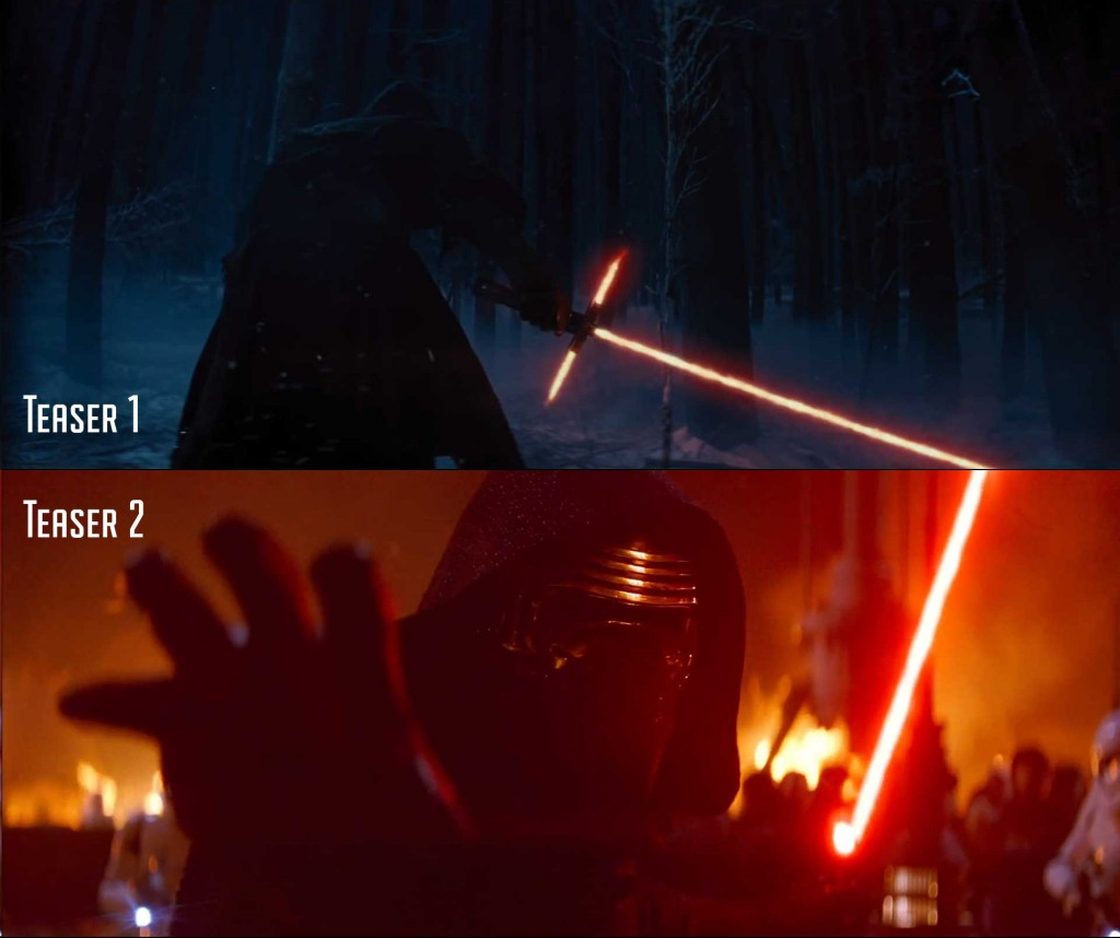 We get our first good look at the face of Kylo Ren