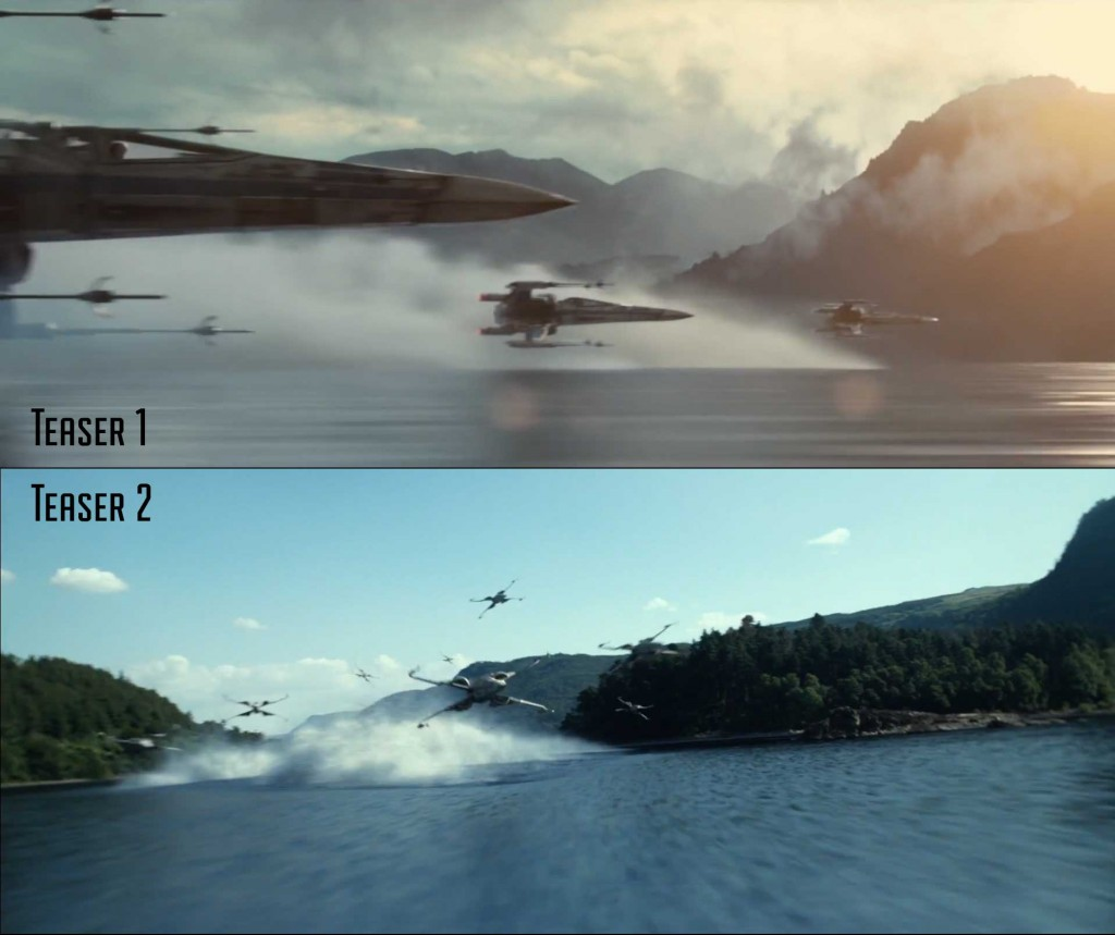 The X-Wings from both teasers