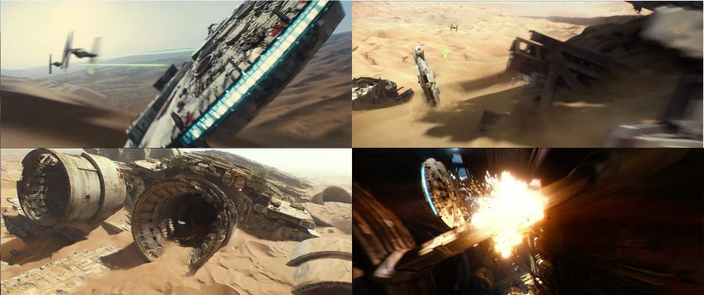Who is flying the Millennium Falcon?